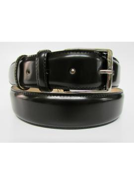Cintura elegante in vitello lucido nero
