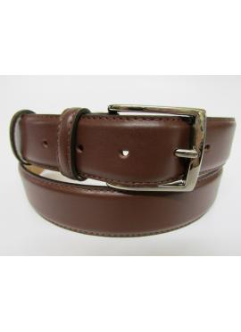 Cintura elegante in vitello nappato marrone