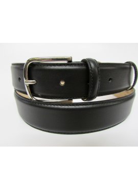 Cintura elegante in vitello nappato nero