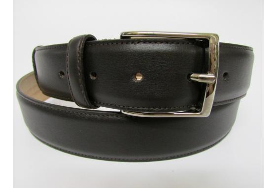 Cintura elegante in vitello nappato t.moro