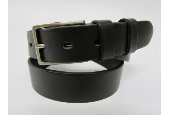 Cintura sportiva in cuoio di toro nero