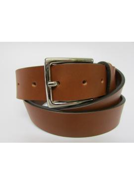 Cintura sportiva in cuoio di toro color cuoio
