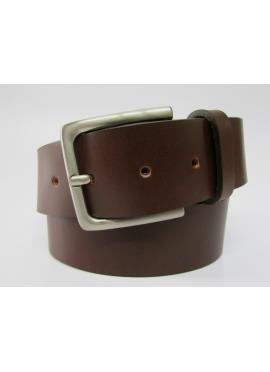Cintura sportiva in cuoio di toro color bruciato