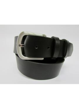 Cintura sportiva in cuoio di toro color nero